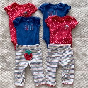 Matching Carter's twin Girl 3 price sets
